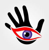 Eye emerging from a palm by Shawlin Mohd