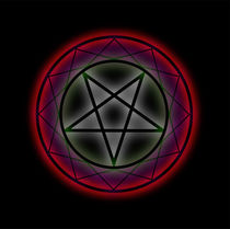 Glowing pentagram by Shawlin Mohd