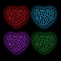Glowing hearts von Shawlin Mohd