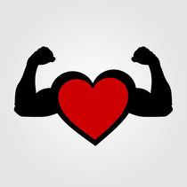 A heart with flexing muscles- Healthy heart  von Shawlin Mohd