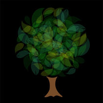 Tree with leaves in shades of green  von Shawlin Mohd