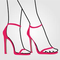Feet of a lady wearing pink high heels  von Shawlin Mohd