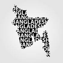 Map of Bangladesh with text inside  by Shawlin Mohd