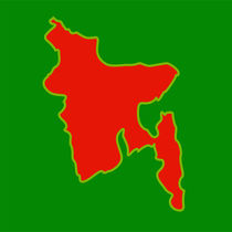 Map of Bangladesh with in flag colors  by Shawlin Mohd