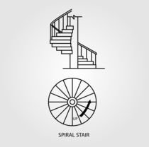 Top view and side view of a Spiral Staircase  von Shawlin Mohd