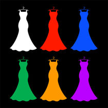 Colorful dresses by Shawlin Mohd