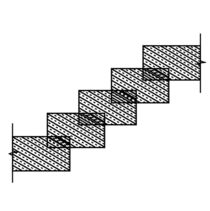 Rectangular stone stairs  by Shawlin Mohd