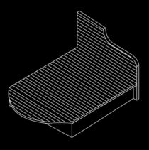 3d view of a wooden bed furniture drawing  von Shawlin Mohd