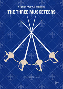 No724 My The Three Musketeers minimal movie poster von chungkong
