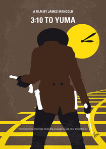 No726 My 310 to Yuma minimal movie poster von chungkong