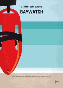 No730 My Baywatch minimal movie poster von chungkong