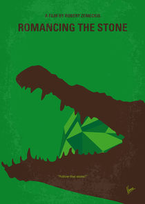No732 My Romancing the Stone minimal movie poster by chungkong