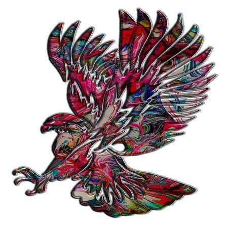 Abstract-faux-metallic-tribal-eagle