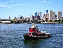 Philadelphia PA - Tugboat by Philadelphia Skyline von Susan Savad