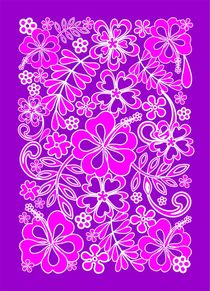 Hibiscus Pink and Purple Pattern  von bluedarkart-lem