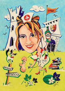 Disegni e Caricature Papiri di Laurea - Stampa Colore von nacasona
