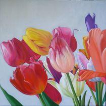 Bunte Tulpen von Anne Petschuch