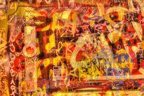 Alte Tür mit Graffiti bei Abenddämmerung, Ostertorviertel, Viertel, Bremen by Torsten Krüger