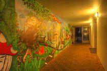 Fußgängertunnel bei mit Graffiti bei Abenddämmerung, Ostertorviertel, Viertel, Bremen by Torsten Krüger