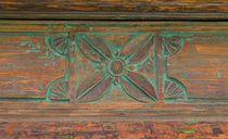 Quadratur der Kreise  |  Plant meets Wood  |  Ornamento floral de Madera  von artistdesign