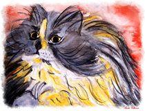 Watercolor Art Cat  von Sandra  Vollmann