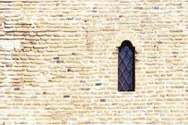 Old Castle Window On Brick Wall von Radu Bercan