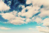 White Soft Clouds On Blue Turquoise Sky von Radu Bercan