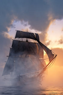Sails in the fog by Andreas Hoops