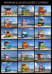 Miami Beach Lifeguard Towers by Rainer Grosskopf