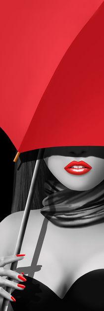 Rot wie die Liebe unterm Schirm by Monika Juengling