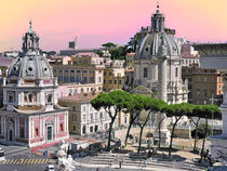 Domes in Rome by GabeZ Art