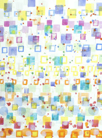 Light Squares with Drops Pattern  by Heidi  Capitaine