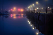 Misty Swansea Marina by Leighton Collins