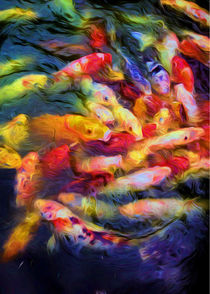 Koi Pond by Jon Woodhams
