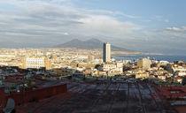 Neapel Blick zum Vesuv by Rene Müller