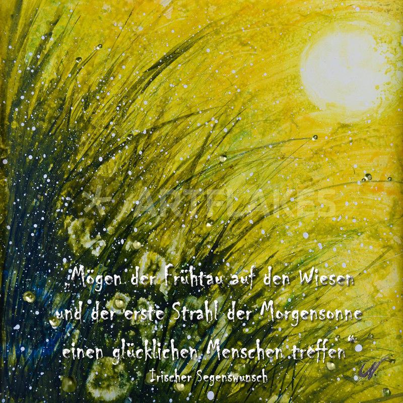Irischer Segen Irischer Segenswunsch Malerei Als Poster Und
