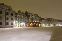 Münsterplatz Freiburg im tiefen Winter von Patrick Lohmüller