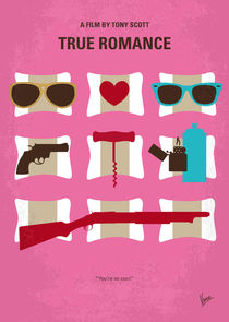 No736 My True Romance minimal movie poster von chungkong