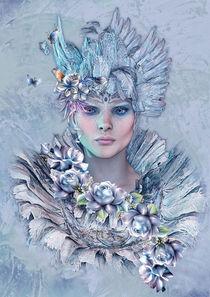 Blue Raven by Andrea Tiettje