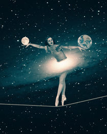 The Cosmic Game of Balance or Universe Ballerina von Paula  Belle Flores