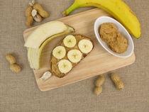 Brot mit Banane und Erdnussbutter by Heike Rau