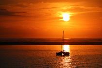 sailing boat infront an Island von dm88