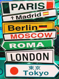Capital Cities Arrow Sign Information by Radu Bercan