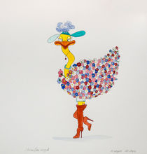 Straußenvogel von Angelika Wegner