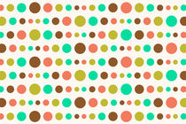 Retro Colored Circles Pattern by Radu Bercan