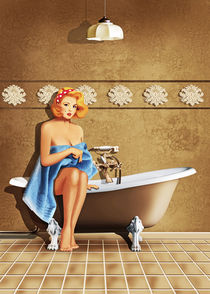 Pin Up Girl und Badezimmer Nostalgie by Monika Juengling