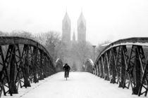Schneegestöber in Freiburg von Patrick Lohmüller