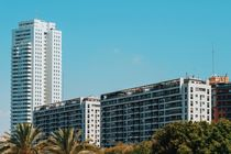 Valencia City Skyline Buildings In Summer by Radu Bercan