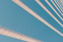 Steel Bridge Cables On Blue Sky by Radu Bercan
