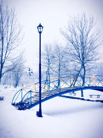 Winter Bridge von GabeZ Art